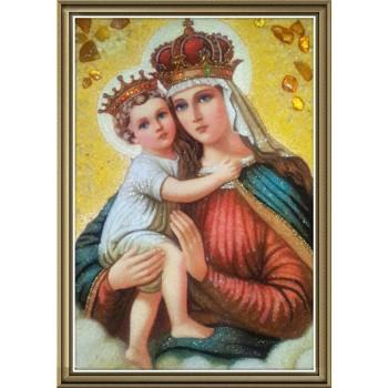 Єрусалимська ікона Богородиці - Ікона з янтаря (ар-15/1)