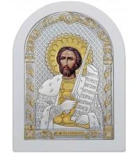 Икона Александр Невский - Красивая Икона из Греции с серебром и позолотой (ek3-194W)