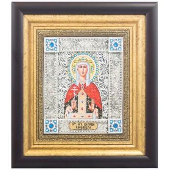 Икона Александра Римская - икона с серебром (k-24)