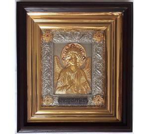 Икона Ангел Хранитель - подарочная икона, с серебром и позолотой (ЮЛ-15/1)
