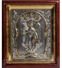 Икона Ангел Хранитель в полный рост - икона с серебром (хм-44)