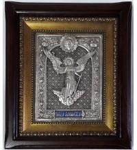 Икона Ангела-Хранителя - икона с серебром, на подарок (ЮЛ-50)