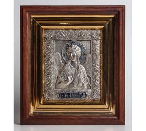 Ікона Ангела Зберігача - ікона в кіоті, з сріблом (ЮО-15)