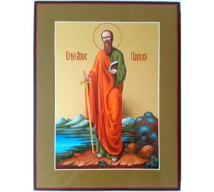 Икона апостол Павел - писаная икона, сусальное золото (ВЧ-02)