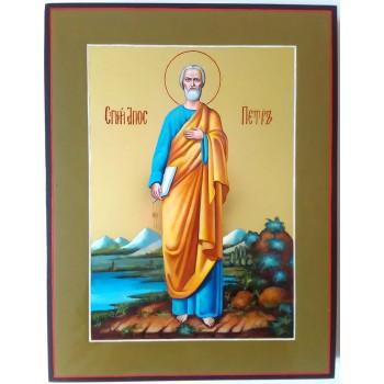 Икона апостол Петр - писаная икона, сусальное золото (ВЧ-03)
