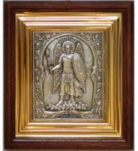 Икона Архангел Михаил (в полный рост) - икона с серебром (ЮЛ-23)