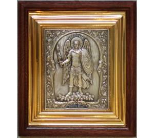 Ікона Архангел Михаїл (в повний зріст) - ікона з сріблом (ЮО-23)