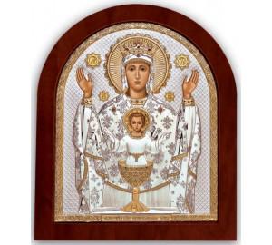 Ікона Богородиці Невипивана Чаша - захищає від алкоголізму, куріння та наркоманії (GOLD)