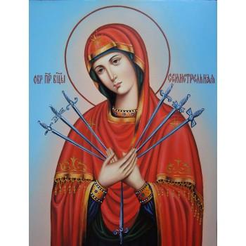 Ікона Богородиці Семистрельная - дивовижна ікона писана (Гр-04)