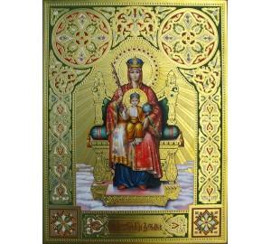 Икона Божьей Матери Державная - писаная икона с сусальным золотом  (гр-65)