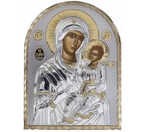 Икона Божьей Матери Иверская - Икона из Греции арочной формы на пластиковой основе