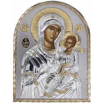 Ікона Божої Матері Іверська Ікона з Греції арочної форми на пластиковій основі