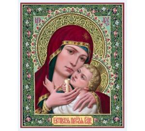 Икона Божьей Матери Корсунская - красивая писаная икона (ир-20)