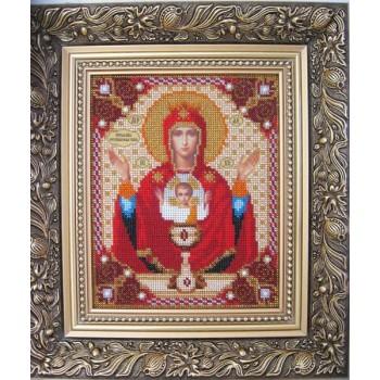 Икона Божьей Матери Неупиваемая Чаша - Икона ручной работы из бисера (б-01)