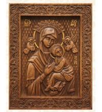Ікона Божої Матері Неустанної помочі - красива ікона з натурального дерева (р-15)