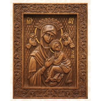 Икона Божьей Матери Неустанной помощи - красивая икона из натурального дерева (р-15)