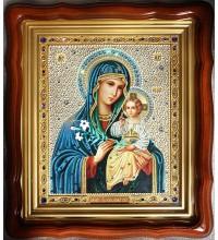 Икона Божьей Матери Неувядаемый цвет - икона на стекле, художественная роспись (Ст-01)