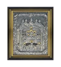 Икона Божьей Матери Покрова - икона с серебром и позолотой (ЮЛ-Покрова)