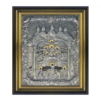 Ікона Божої Матері Покрови - ікона з сріблом та позолотою (ЮО-Покрова)