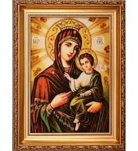 Ікона Божої Матері Скоропослушниця - Янтарна ікона Богородиці (арпб-2)