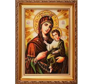 Икона Божьей Матери Скоропослушница - Янтарная икона Богородицы (арпб-2)