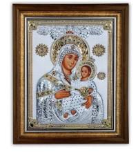 Ікона Божої Матері Віфлеємська під склом інкрустована збільшеною кількістю кристалів Сваровськи