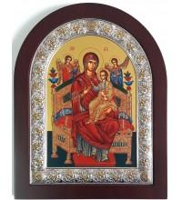 Икона Божьей Матери Всецарица (Пантанасса) - икона из Греции, с серебром 20*25 см (EK305-104XAG)