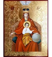 Икона Божией Матери Державная - писаная икона, с золотом (ВЧ-23)