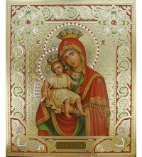 Ікона Божої Матері Достойно є - ікона писана з золотом (Дм-21)