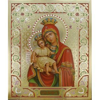 Икона Божией Матери Достойно есть - писаная икона с золотом (Дм-21)