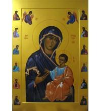 Икона Божией Матери Иверская - писаная икона (Гр-89)