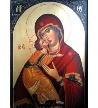 Икона Божией Матери Владимирская - писаная икона (Гр-85)