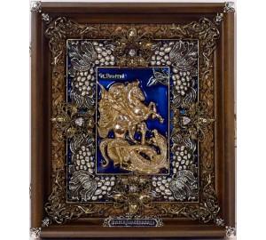 Икона Георгий Победоносец - Эксклюзивная икона, художественное литье (Ос-ЛГПС23)