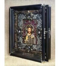 Ікона Господь Вседержитель - гідна ікона, срібло, позолота (Ос-ЛГк13)