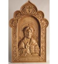 Икона Господь Вседержитель - Резная икона из дерева (300 х 192, Дуб) (ДВ-2-д)
