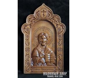 Икона Господь Вседержитель - Резная икона из дерева  (300 х 192 Груша) (ДВ-2)