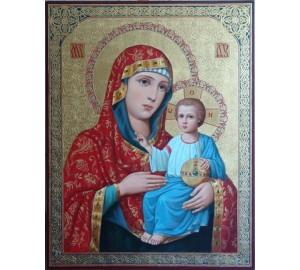 Икона Иерусалимская Пресвятая Богородица - Неповторимая писаная икона (ир-12)