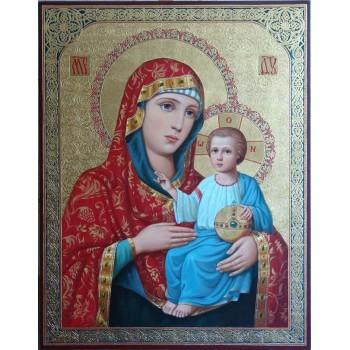 Єрусалимська ікона Пресвята Богородиця - Неповторна ікона писана (ір-12)