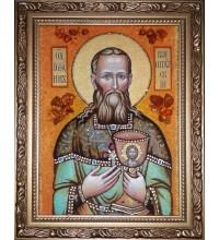 Икона из янтаря Иоанн Кронштадский (ар-284)