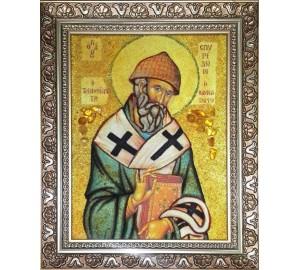 Ікона з янтаря Святий Спиридон Триміфунтський (ар-270)