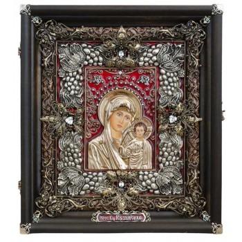 Икона Казанская Божья Матерь - Эксклюзивная икона ручной работы (Ос-ЛБКк13)