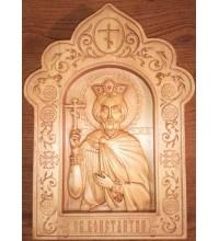 Ікона Костянтин - різьблена ікона з дерева (Р-30)