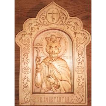 Икона Святой Константин, икона из дерева купить