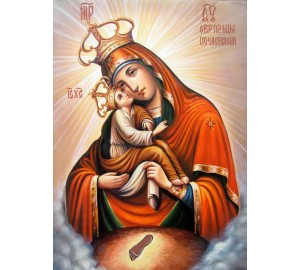 Ікона Почаївської Божої Матері - чудесна ікона писана (Гр-02)