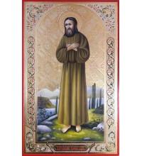 Икона Преподобный Алексий, человек Божий - писаная икона, с золотом (ВЧ-26)