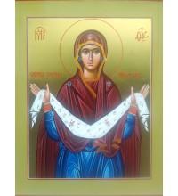 Икона Пресвятой Богородицы Покрова - писаная икона с сусальным золотом (ВЧ-01)