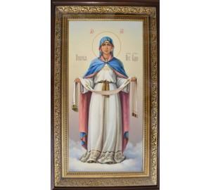 Икона Пресвятой Богородицы Покрова - писаная икона в киоте (сч-21)