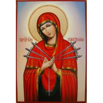 Ікона Пресвятої Богородиці Семистрельная - ікона писана (Гр-81)