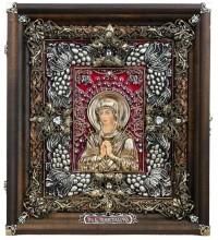 Ікона Пресвятої Богородиці Семистрельная - чудова ікона, ручна робота (Ос-ЛБСс13)