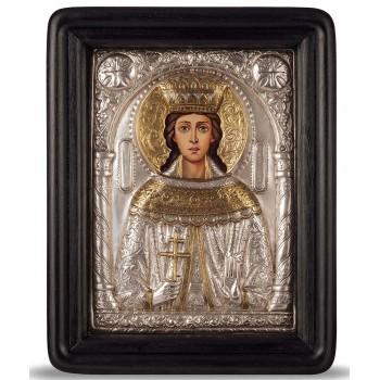 Икона с серебром Святая Екатерина (хм-41)